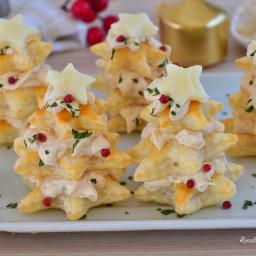 Alberi ANTIPASTO di Natale Ripieni e con Pasta Sfoglia veloci
