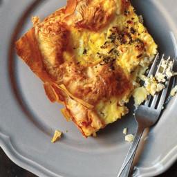 Alevropita (Greek Egg, Feta, and Herb Tart)
