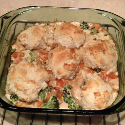 Alfredo chicken and biscuits