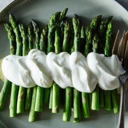 Alice B. Toklas Asparagus in Salt  and  Pepper Whipped Cream