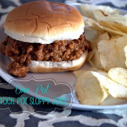 All In the Crock Pot Sloppy Joes