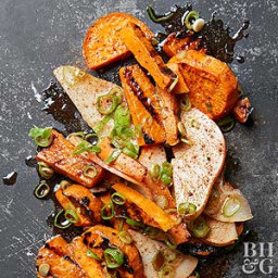 Allspice Grilled Sweet Potatoes and Pears
