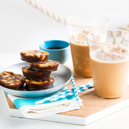 Almond and cold brew coffee frappes