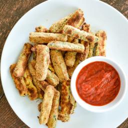 Almond-Crusted Zucchini Sticks (gluten-free, dairy-free)