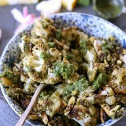 Almond Pesto Cauliflower (Paleo Whole30)
