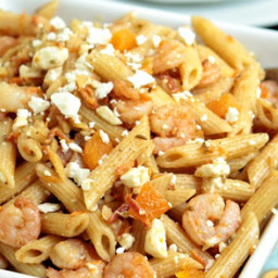 Almond, Shrimp and Feta Pasta Salad