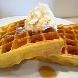 Almost-As-Good-As-Buttermilk Waffles