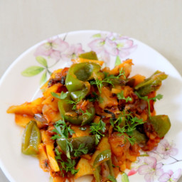 Aloo Capsicum Recipe or Aloo Shimla Mirch
