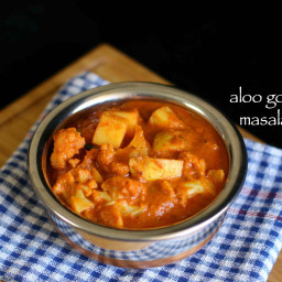 aloo gobi masala recipe | how to make aloo gobi curry - restaurant style