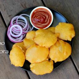 aloo pakora recipe | potato pakora recipe | aloo bajji or potato bajji