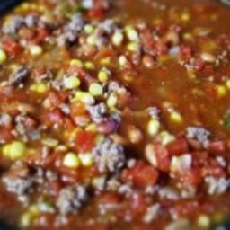 Amanda's Taco Soup with Romaine Wraps