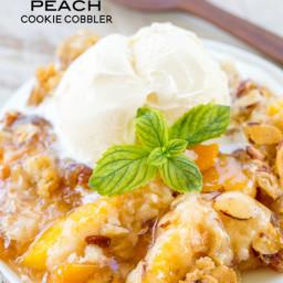 Amaretto Peach Cookie Cobbler