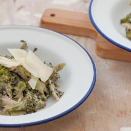 Amazing Roast Broccoli & Chicken Caesar-ish Salad