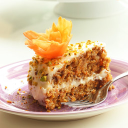 American Carrot Cake with Orange Mascarpone Cream