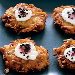American Caviar with Crispy Yukon Gold Potato Pancakes