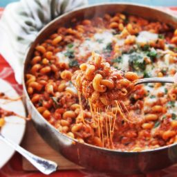 American Chop Suey (Macaroni, Beef, and Cheese Skillet Casserole)