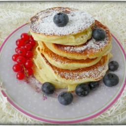Amerikanische Pancakes zum Frühstück