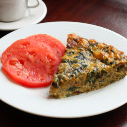 An Easy, Delicious Crustless Quiche With Swiss Chard and Bacon