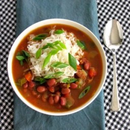 Andouille Soup with Red Beans and Rice