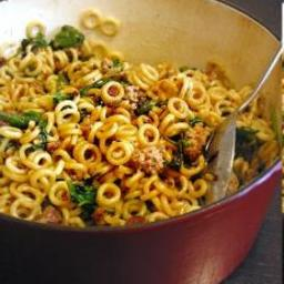 Anelletti Pasta with Sausage and Greens
