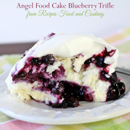 Angel Food Cake Blueberry Trifle