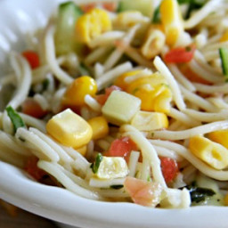 Angel Hair Garden Pasta Salad