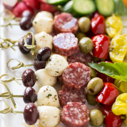 Antipasto Skewers and Ideas for an Awards Show Party