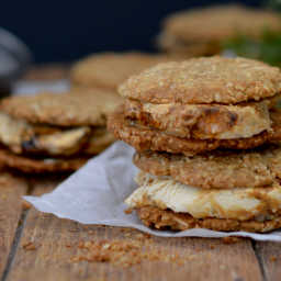 ANZAC Biscuit and Burnt Fig Ice Cream Sandwiches