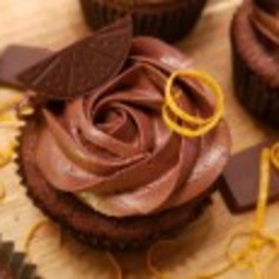 Appelsinsjokolade Cupcakes