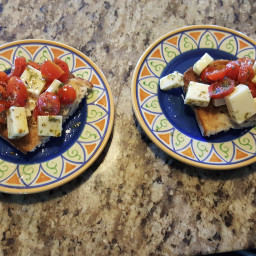 Appetizer - Bruschetta with cheese for the Layperson