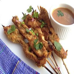 Appetizer - Chicken satay skewers