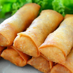 Appetizer - Crab Cheese Spring Rolls in an Air Fryer