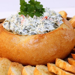 Appetizer - Spinach Dip In A Bread Bowl