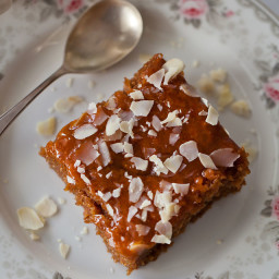 Apple and apricot jam 'Embargo' cake {vegan}