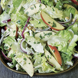 Apple and Escarole Salad with Blue Cheese and Hazelnuts
