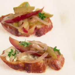 Apple and Onion Confit Crostini