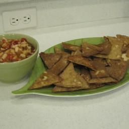 Apple Berry Salsa w/ Cinnamon Chips