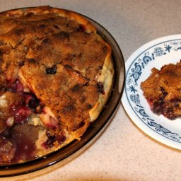 Apple Blueberry Crumble Pie