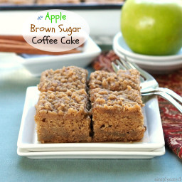 Apple Brown Sugar Coffee Cake