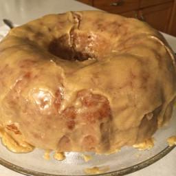 Apple Bundt Cake with Vanilla Bean Glaze