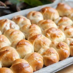 Apple Butter Yeast Rolls (Bulochki)