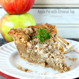 Apple Chess Pie with Streusel Top