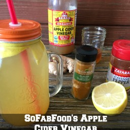 Apple Cider Vinegar and Lemon Detox Drink