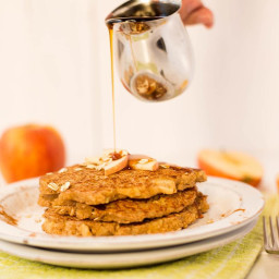 Apple Cinnamon Oat Bran Pancakes