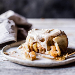 Apple Cinnamon Rolls with Cream Cheese Chai Frosting