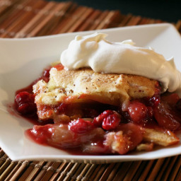 Apple Cranberry Cobbler with Cinnamon and Vanilla