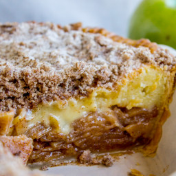 Apple Custard Pie with Cinnamon Streusel