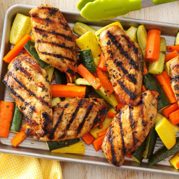 Apple-Marinated Chicken and Vegetables Recipe