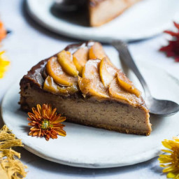 Apple Paleo Cheesecake with Caramel