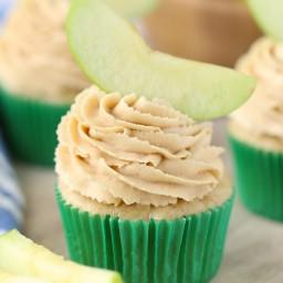 Apple Peanut Butter Cupcakes